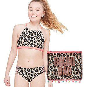 Reversible 2 Pcs Justice Bikini Swimsuit Size12